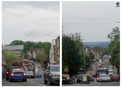 Traffic in Crystal Palace and Anerley